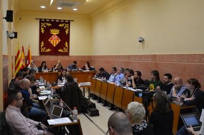 El Pleno ordinario correspondiente al mes de febrero ha tenido lugar en la sala Enric Vergés (foto: Ayuntamiento).