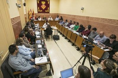 Milagros Calleja ha dado a conocer al Pleno la memoria de la Sindicatura (foto: Ayuntamiento – Lali Puig).