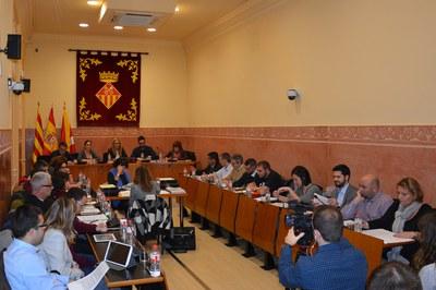 El Pleno del mes de enero ha tenido lugar en la Sala Enric Vergés.