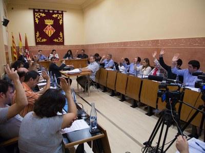 Un momento del Pleno de octubre, en la Sala Enric Vergés (foto: Localpres).
