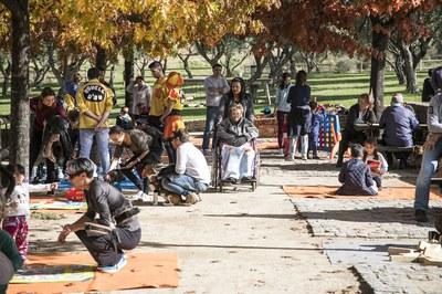 La jornada presencial del sábado contó con actividades para grandes y pequeños (foto: Lali Puig).