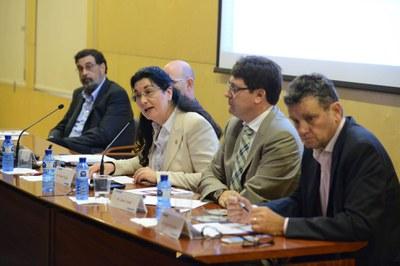 La alcaldesa, Carme García, en la EUETIB-UPC (foto: Localpres).