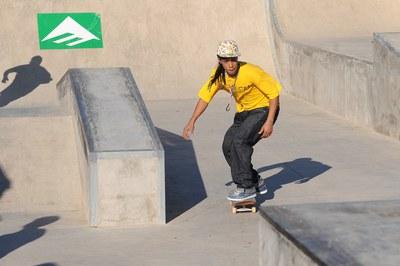 El skatepark de Can Sant Joan volverá a acoger una competición (foto: Lídia Larrosa).