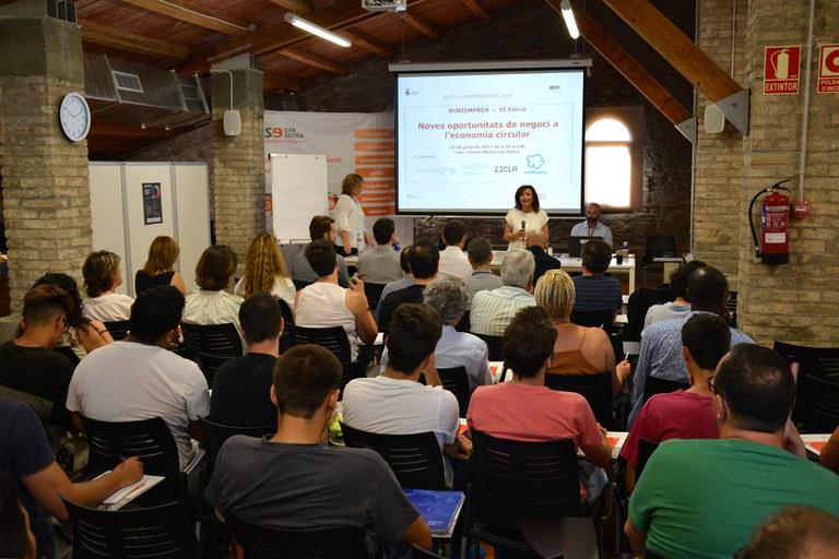 Olga González, durante la presentación de la jornada