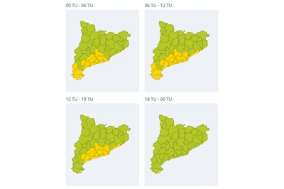 Evolución del viento prevista durante el día de Reyes (fuente: SMC).