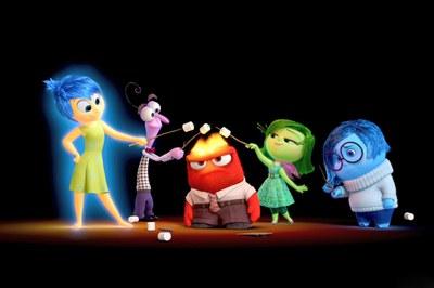 """Una imagen promocional de """"Inside out (Del revés)"""", la película que se podrá ver este lunes."""