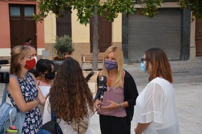 Momento de l'atención a los medios (Foto:Ayuntamiento).