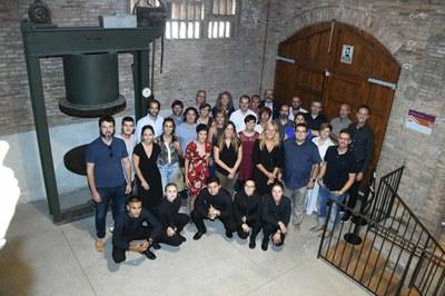 La alcaldesa y los regidores con el jurados y el personal de los premios (foto: Ayuntamiento de Rubí - Localpres).