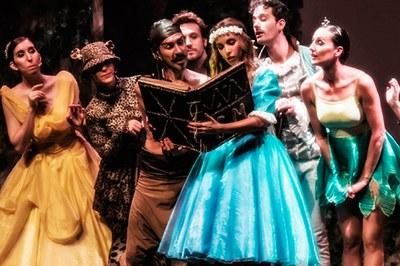 """""""Gisela y el libro mágico"""" es un espectáculo de mucho éxito entre los niños."""