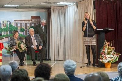 El homenaje a Mumany y Pons ha tenido lugar en el Casal de la Gent Gran de Rubí (foto: Cesar Font).