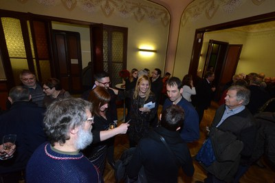El encuentro se ha celebrado en la Sala Noble del Ateneu (foto: Localpres).