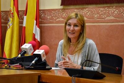 Ana María Martínez, durante la rueda de prensa.