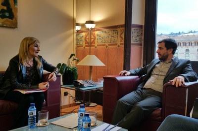 Ana María Martínez se ha reunido este martes con Toni Comín.