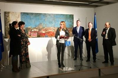 Acto de inauguración de la exposición.