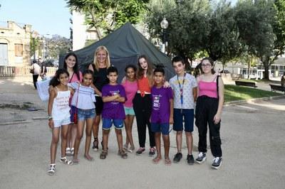 Martínez y Cebrián, con los niños saharauis y los representantes del Consejo de los Niños y Adolescentes (foto: Ayuntamiento - Localpres).
