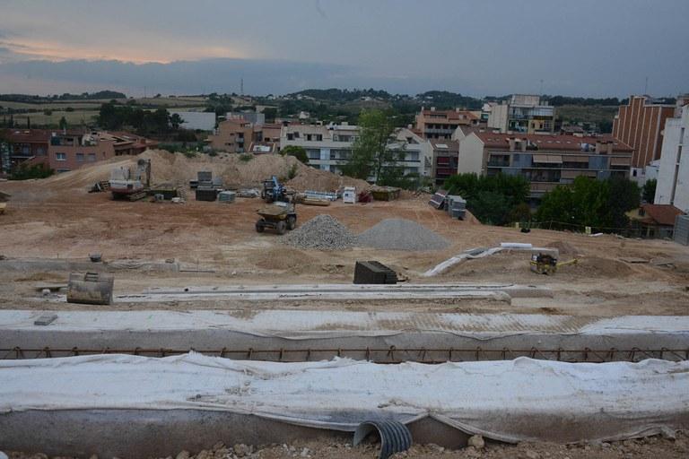 Las obras del nuevo parque de La Serreta avanzan según el calendario previsto (foto: Localpres)