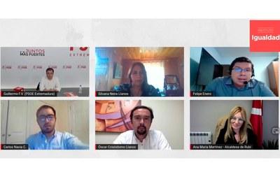 La ponencia se ha celebrado de forma virtual (foto: Ayuntamiento de Rubí).