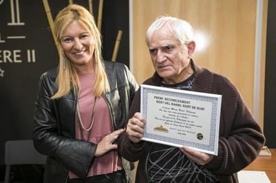 """Josep Maria Roset Camps fue uno de los galardonados con los premios """"Gent del barri, gent de Rubí"""" l'any passat (foto: Ayuntamiento de Rubí – Lali Puig)."""