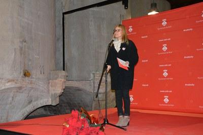 La alcaldesa ha felicitado la Navidad a los asistentes y les ha agradecido la labor realizada durante todo el año