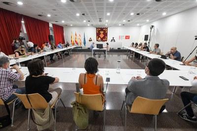 El pleno se ha celebrado en la Biblioteca Mestre Martí Tauler (foto: Ayuntamiento de Rubí - Localpres).