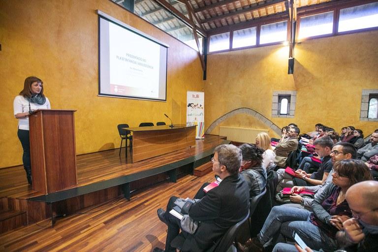 Marta García, durante su intervención (foto: Lali Puig)