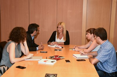 La reunión con la fundación Jaume Bofill ha tenido lugar este jueves (foto: Localpres).