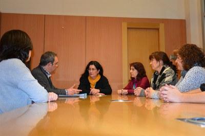 El Comité de empresa se ha reunido con la alcaldesa y la concejala de Salud.