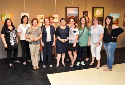 Miembros de Mujeres Creativas del Vallès en la inauguración de 'Nuevas sensaciones', el año pasado (foto: Localpres).
