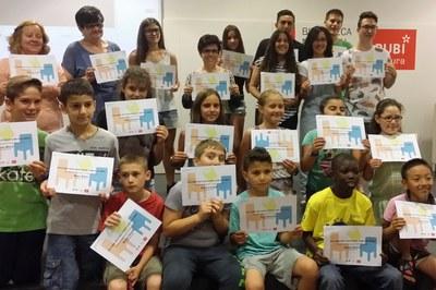Participantes en el programa LECXIT durante el acto de clausura.