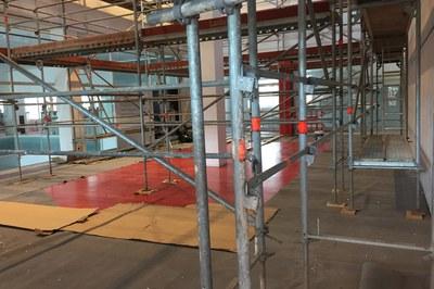 Estos días, en la biblioteca se están haciendo unas obras para mejorar el sistema de climatización del edificio, entre otros.