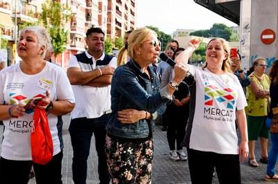 La alcaldesa, en la salida de la Bicicletada (foto: Ayuntamiento de Rubí - Localpres)