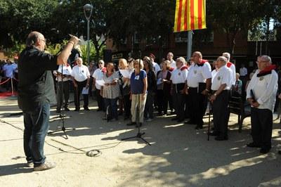 "Interpretación de ""Els Segadors"" (foto: Localpres)"