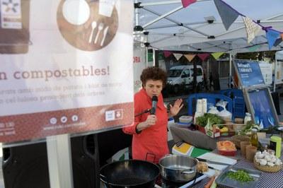 Taller de cocina de aprovechamiento del Mercado Municipal (foto: Ayuntamiento de Rubí - Localpres)