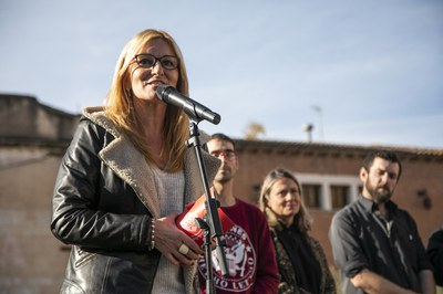 La alcaldesa, durante su intervención (foto: Ayuntamiento - Lali Puig)