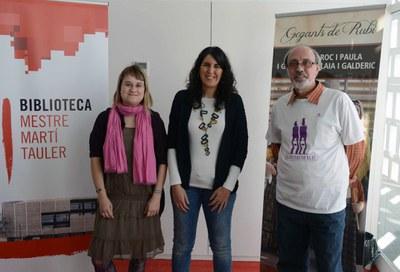 Ana García, Neus Muñoz y Joan-Miquel Merino (foto: Localpres).
