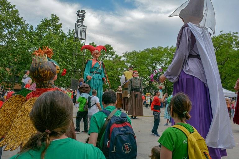 Todos los gegants han llevado a cabo bailes de lucimiento (foto: Localpres)
