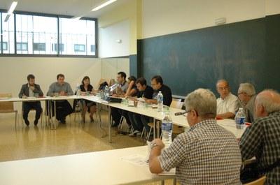 La Comisión cívica se ha reunido en el Centre Cívic del Pinar este miércoles.