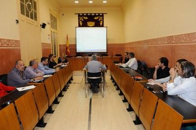 La primera reunión de la Comisión de Energía Municipal ha estado presidida por la alcaldesa (Foto: Localpres).