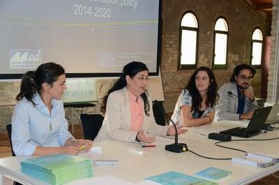 La alcaldesa, en la presentación del Workshop Transnacional (foto: Localpres).