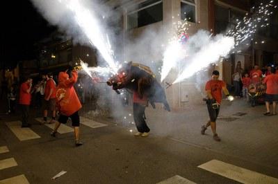 La 'Trobada Bèsties de Foc' es una de las actividades más emblemáticas de la fiesta (foto: Localpres).