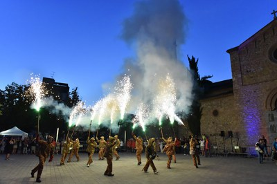 El fuego ha sido uno de los grandes protagonistas de la fiesta (foto: Localpres).