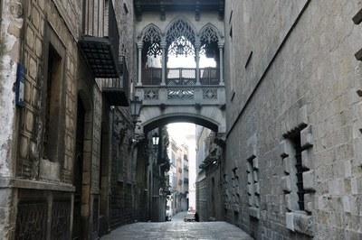 La calle del Bisbe es uno de los escenarios de la novela (foto: Wikimedia Commons).