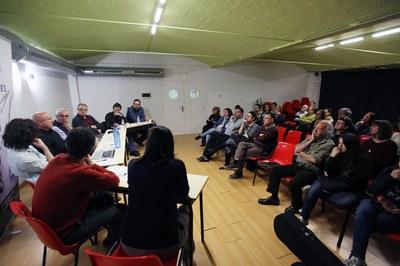 En marzo, la escuela organizó una charla-debate con el ex consejero Joan Manuel Tresserras (foto: Localpres).