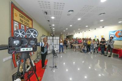 La alcaldesa en funciones en un momento de la inauguración (foto: Ayuntamiento de Rubí – Localpres).