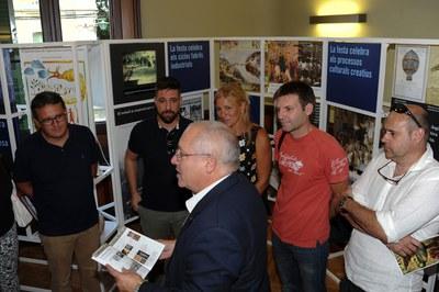 Lluís Puig ha presentado los diferentes contenidos de la exposición (foto: Localpres)