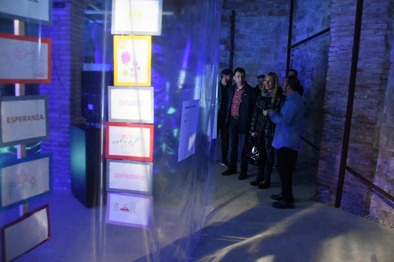 Imagen de la visita a la exposición (foto: Localpres)