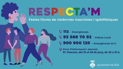 Imagen de la campaña Respecta'm (foto: Ayuntamiento de Rubí).