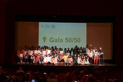 El año pasado los centros presentaron los resultados de su ahorro en una gala a La Sala (foto. Ayuntamiento de Rubí – Localpres).