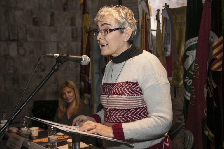 Este año, el pregón lo ha leído Montserrat Comellas (foto: Ayuntamiento ─ Lali Puig)