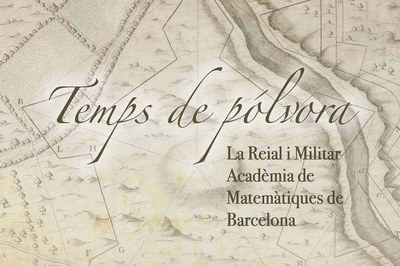 """Detalle del cartel de la exposición """"Temps de pólvora""""."""